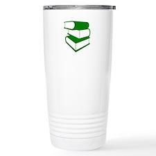 Stack Of Green Books Travel Mug