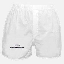 Future Geography Teacher Boxer Shorts