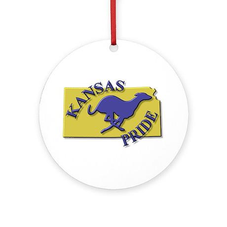 Greyhound Ornament (Round)/KS Pride