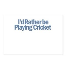 I'd Rather be Playing Cricket Postcards (Package o