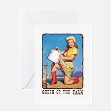Cowgirl Farm Queen Greeting Card