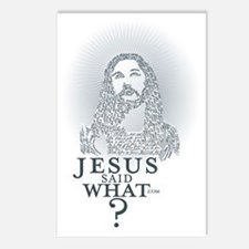 Jesus said what? Postcards (Package of 8)