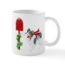 Christmas Papillon Mail Tri Mug
