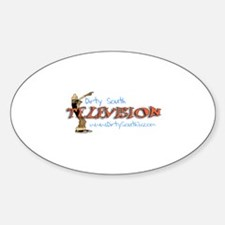 Dirty South Television Oval Decal
