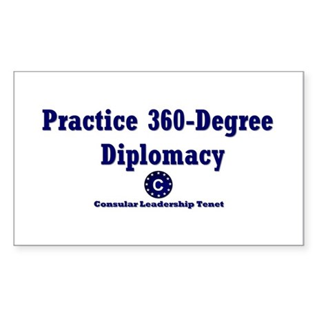 DP-Practice 360-Degree Diplomacy Sticker (Rectangl