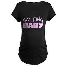 Golfing Baby (Pink) T-Shirt