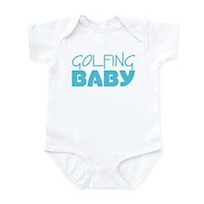 Golfing Baby (Blue) Infant Bodysuit