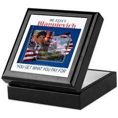 Re-Elect Blagojevich Keepsake Box