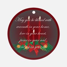 Irish Blessing Christmas Ornament (Round)