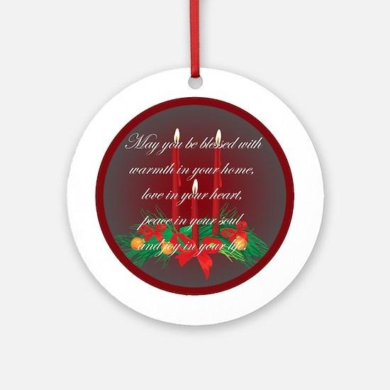Irish Blessing Christmas Ornament (Round)