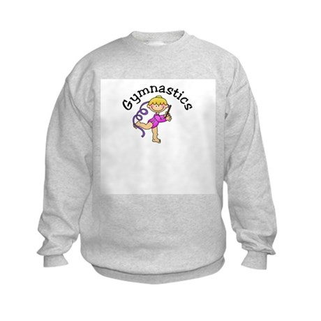 Blonde Gymnastics Ribbon Kids Sweatshirt