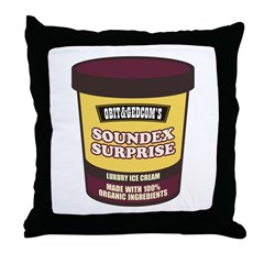Soundex Surprise Throw Pillow