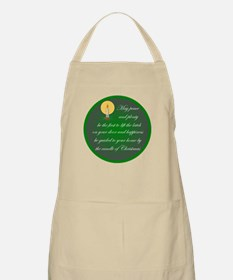 Irish Christmas Candle Blessing BBQ Apron