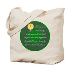 Irish Christmas Candle Blessing Tote Bag