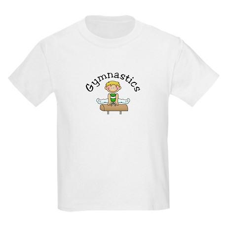 Blonde Pommel Horse Boy Kids Light T-Shirt