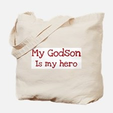 Godson is my hero Tote Bag