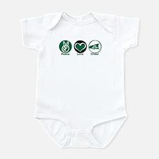 Peace Love Cheer Green Infant Bodysuit