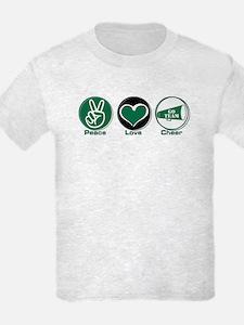 Peace Love Cheer Green T-Shirt
