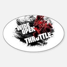 WIDE OPEN THROTTLE Oval Decal