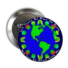 """Let There Be Peas On Earth... 2.25"""" Button"""