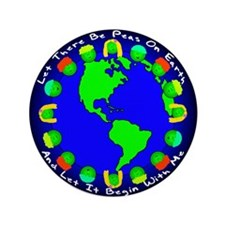 """Let There Be Peas On Earth... 3.5"""" Button"""