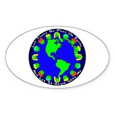 Let There Be Peas On Earth... Oval Decal