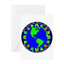 Let There Be Peas On Earth... Greeting Card
