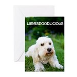 Labradoodlicious Labradoodle Greeting Cards (Pk of