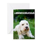 Labradoodlicious Labradoodle Greeting Card
