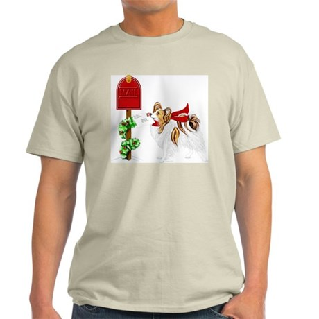 Christmas Papillon Mail Sable Light T-Shirt