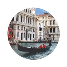 Venice Gondola original photo - Ornament (Round)
