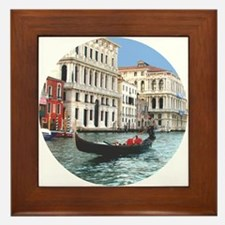 Venice Gondola original photo - Framed Tile
