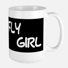 FLY GIRL (wrap) - Large Ceramic Mug