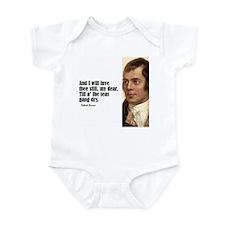 """Burns """"Luve Thee Still"""" Infant Bodysuit"""