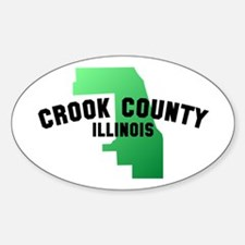 Crook County Oval Decal