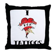 Cute Tattoo lovers Throw Pillow