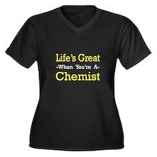 """""""Life's Great..Chemist"""" Women's Plus Size V-Neck D"""