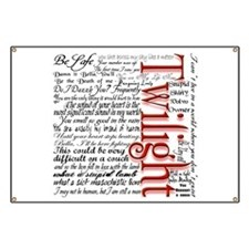 Movie Twilight Quotes Gifts Banner
