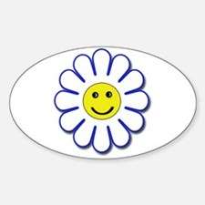 Smiliey Daisy Oval Decal