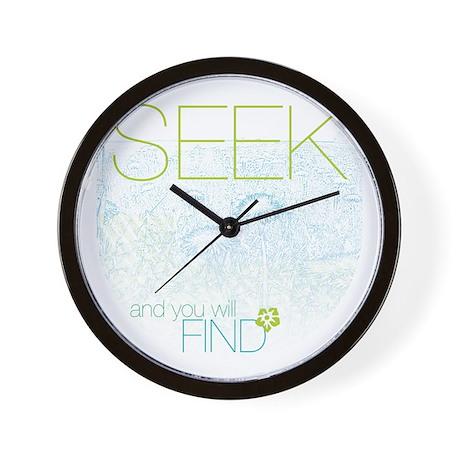 Seek & Find Wall Clock