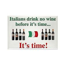 Italian Wine Drinkers Rectangle Magnet
