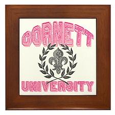 Cornett Last Name University Framed Tile