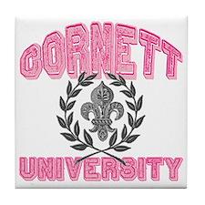 Cornett Last Name University Tile Coaster
