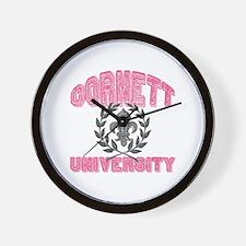 Cornett Last Name University Wall Clock