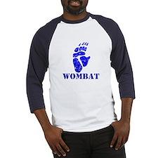 Blue Wombat Footprint Baseball Jersey