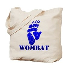 Blue Wombat Footprint Tote Bag