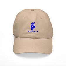 Blue Wombat Footprint Baseball Cap