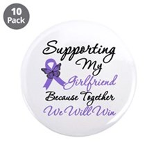 """Hodgkin's Support Girlfriend 3.5"""" Button (10 pack)"""
