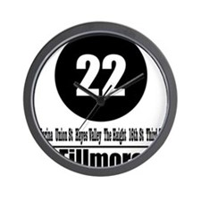 22 Fillmore (Classic) Wall Clock
