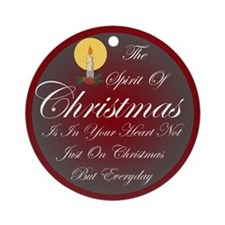 Spirit Of Christmas Ornament (Round)